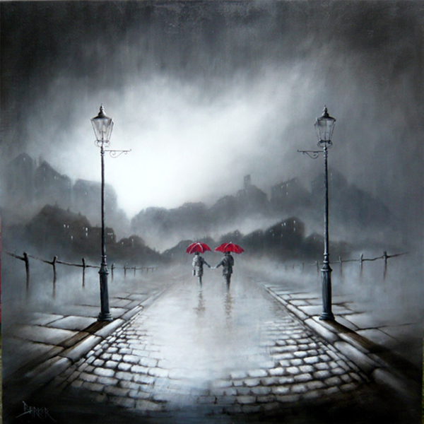Bob Barker Art : Love in the Rain